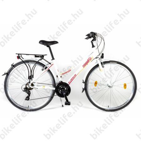 """Csepel Landrider alu vázas női trekking kerékpár Shimano RS/TX váltó, duplafalú abroncs, fehér 17"""""""