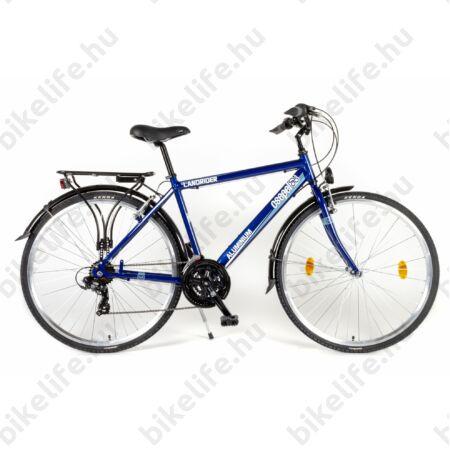 """Csepel Landrider alu vázas férfi trekking kerékpár Shimano RS/TX váltó, duplafalú abroncs, sötétkék 17"""""""