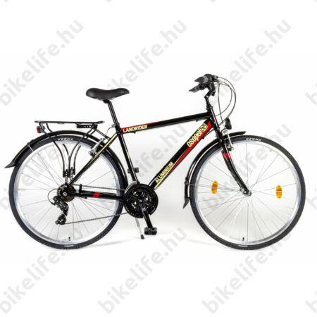 """Csepel Landrider férfi trekking kerékpár alu váz Shimano RS/TX váltó duplafalú abroncs fekete 21"""""""