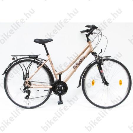 """Csepel Traction 100 női trekking kerékpár, alumínium váz, 21 fokozatú, matt barna, 17"""""""