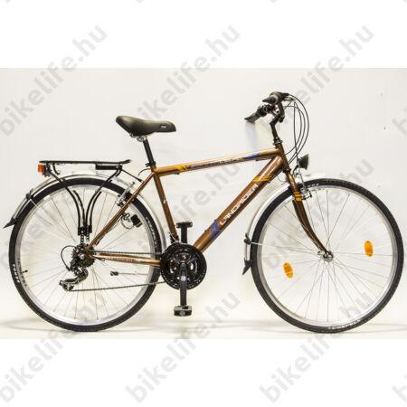 """Csepel Landrider férfi trekking kerékpár Shimano RS/TX váltó, duplafalú abroncs, barna 21"""""""