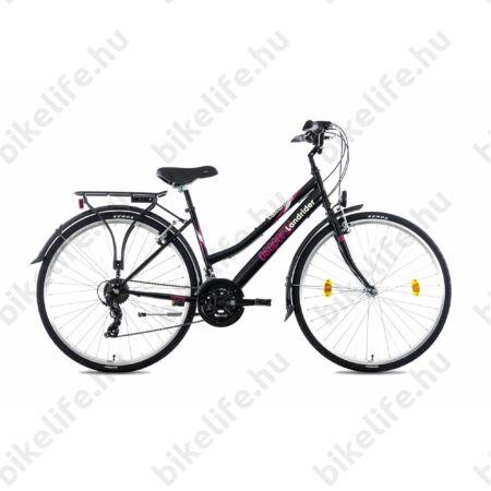 """Csepel Landrider női trekking kerékpár Shimano RS/TX váltó, duplafalú abroncs, fekete 17"""""""