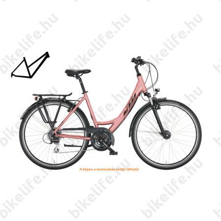 KTM Life Joy női trekking kerékpár 24 fokozatú Shimano Altus váltó, aqua/sötét kék, komfort váz 46cm