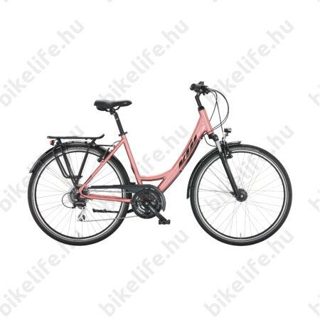 KTM Life Joy női trekking kerékpár 24 fokozatú Shimano Altus váltó, monovázas, V-fék, ocean/mint 43cm
