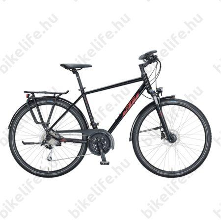 KTM Life Space férfi trekking kerékpár 27 fokozatú Deore XT váltó, tárcsafék, metál fekete 46cm