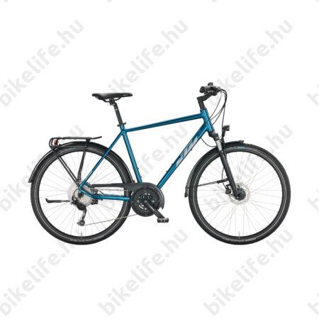 KTM Life Space férfi trekking kerékpár 27 fokozatú Deore váltó, tárcsafék, matt fekete/piros 60cm