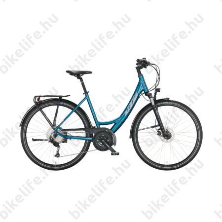 KTM Life Space női trekking kerékpár 27 fokozatú Deore váltó, tárcsafék, matt fekete/piros, mono váz 51cm