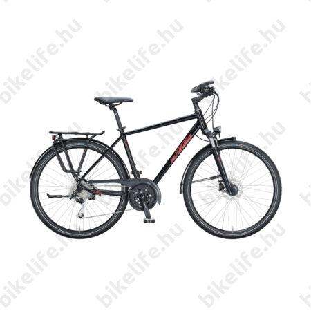 KTM Life Space férfi trekking kerékpár 27 fokozatú Deore XT váltó, tárcsafék, metál fekete 56cm