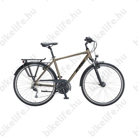 KTM Life Time férfi trekking kerékpár 27 fokozatú Deore váltó, metál tölgy barna, 56cm