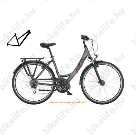 KTM Life Joy női trekking kerékpár 24 fokozatú Shimano Altus váltó, komfort vázas, V-fék, mattezüst 46cm