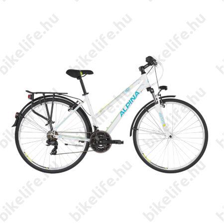 """Alpina ECO LT10 White női trekking kerékpár 21fok. TY300 váltó, alumínium váz, teleszkóp, 18"""""""