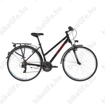"""Alpina ECO LT10 Black női trekking kerékpár 21fok. TY300 váltó, alumínium váz, teleszkóp, 18"""""""