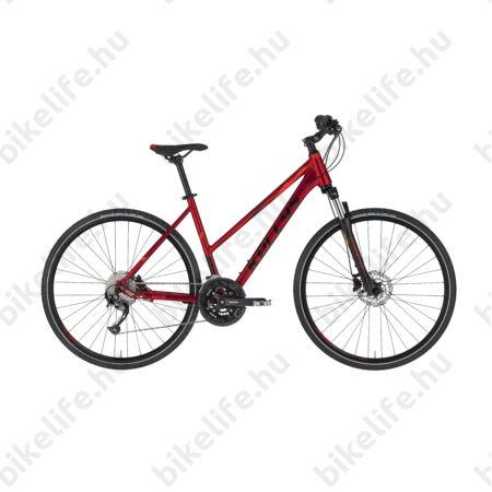 "Kellys Pheebe 30 Dark Red női cross kerékpár 27 fokozatú Alivio váltó, Shimano hidraulikus tárcsafék, M/19"""