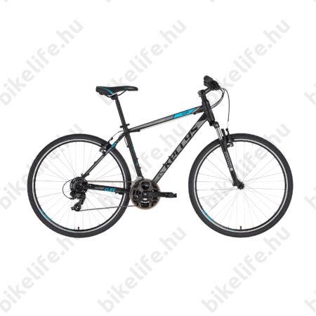 """Kellys Cliff 10 Black/Blue cross kerékpár 21 fokozatú EF41/TY300 váltó, V-fék, 21"""""""