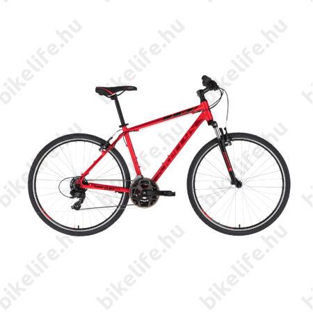 """Kellys Cliff 10 Red cross kerékpár 21 fokozatú EF41/TY300 váltó, V-fék, 19"""""""