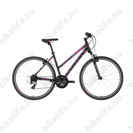 """Kellys Clea 30 Black/Pink női cross kerékpár 24 fokozatú TX800 váltó, V-fék 17"""""""