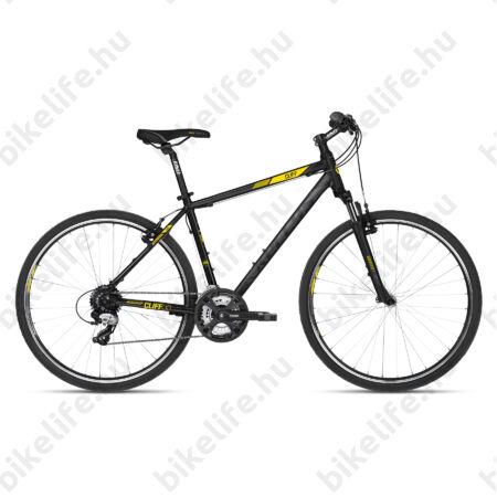 """Kellys Cliff 30 cross kerékpár 24 fokozatú EF51/TX800 váltó, V-fék, Black/Yellow 21"""""""