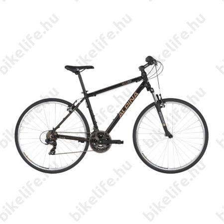"""Alpina ECO C10 Black férfi cross kerékpár 21 fok. Shimano TY300 váltó, alumínium váz, teleszkóp, 19"""""""