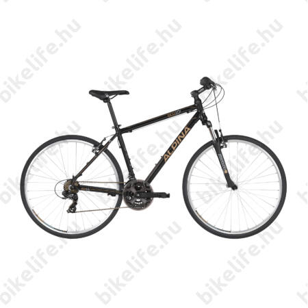 """Alpina ECO C10 Black férfi cross kerékpár 21 fok. Shimano TY300 váltó, alumínium váz, teleszkóp, 21"""""""