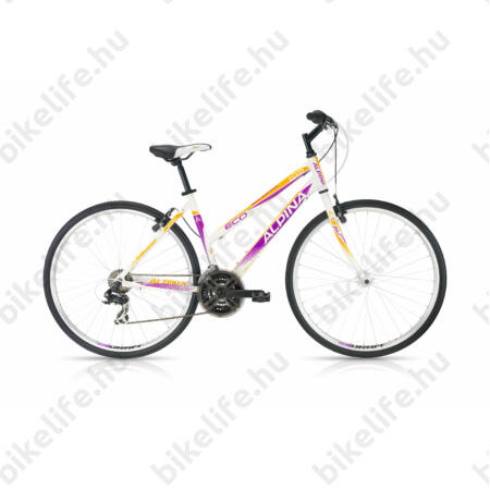 "Alpina ECO LC05 női cross kerékpár 21 sebességes Shimano RS/TX35 váltó, White/Purple 18"""