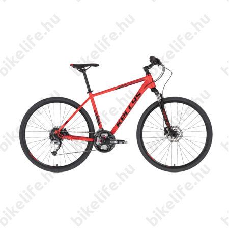 """Kellys Phanatic 10 Red cross kerékpár 27 fokozatú Acera váltó, Shimano hidraulikus tárcsafék M/19"""""""