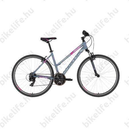"""Kellys Clea 10 Grey/Pink női cross kerékpár 21 fokozatú TY300 váltó, V-fék 17"""""""