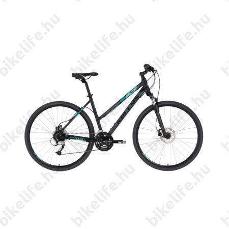 """Kellys Clea 90 Black/Aqua női cross kerékpár 24 fokozatú Altus váltó, hidraulikus tárcsa, 17"""""""
