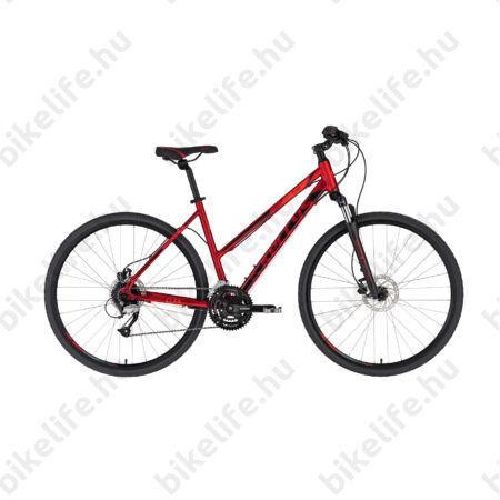 """Kellys Clea 90 Dark Red női cross kerékpár 24 fokozatú Altus váltó, hidraulikus tárcsa, 17"""""""