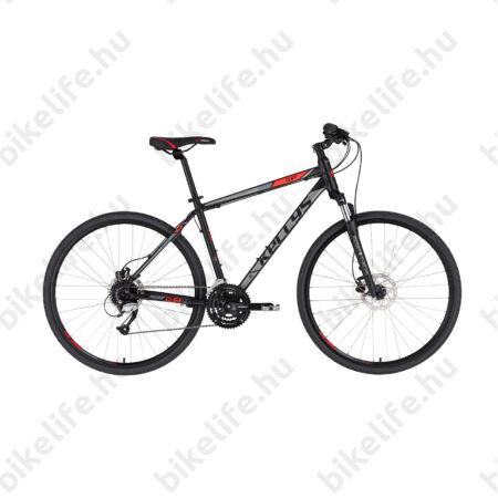 """Kellys Cliff 90 Black/Red cross kerékpár 24 fok. Altus váltó, hidraulikus tárcsafék, 19"""""""