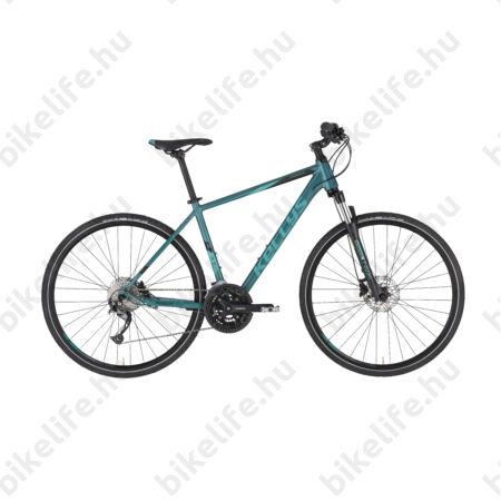 """Kellys Phanatic 30 Teal cross kerékpár 27 fok. Alivio váltó, Shimano hidraulikus tárcsafék M/19"""""""