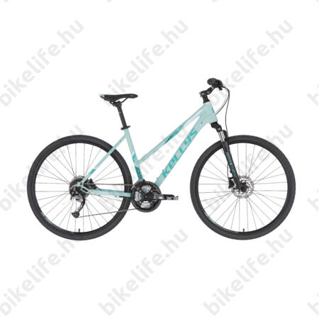 """Kellys Pheebe 10 Dark Blue női cross kerékpár 27 fokozatú Acera váltó, Shimano hidraulikus tárcsafék S/17"""""""