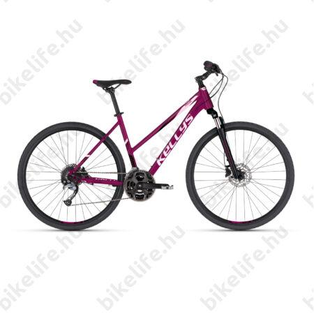 """Kellys Pheebe 10 Dark Pruple női cross kerékpár 27 fokozatú Acera váltó, Shimano hidraulikus tárcsafék M/19"""""""