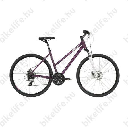 """Kellys Clea 70 Violet 2019 női cross kerékpár 24 fokozatú TX800 váltó, M-Disc 19"""""""