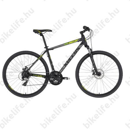 """Kellys Cliff 70 Black Green cross kerékpár 24 fokozatú EF510/TX800 váltó, mechanikus tárcsafék, 17"""""""