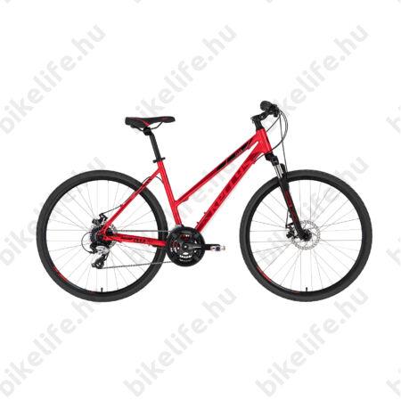 """Kellys Clea 70 Red női cross kerékpár 24 fokozatú TX800 váltó, mechanikus tárcsafék,19"""""""