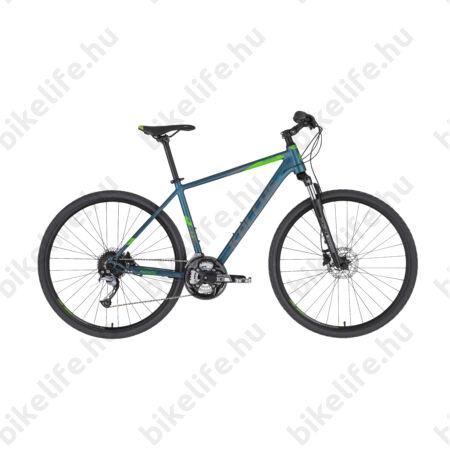 """Kellys Phanatic 10 Dark Ocean cross kerékpár 27 fokozatú Acera váltó, Shimano hidraulikus tárcsafék M/19"""""""