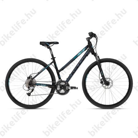 """Kellys Clea 90 2018 női cross kerékpár 27 fokozatú Altus váltó, hidraulikus tárcsa, Black/Aqua 17"""""""
