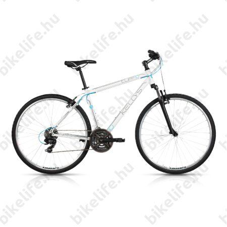 """Kellys Cliff 10 2017 férfi cross kerékpár 21 sebességes EF51/TY300 váltó, White 21"""""""