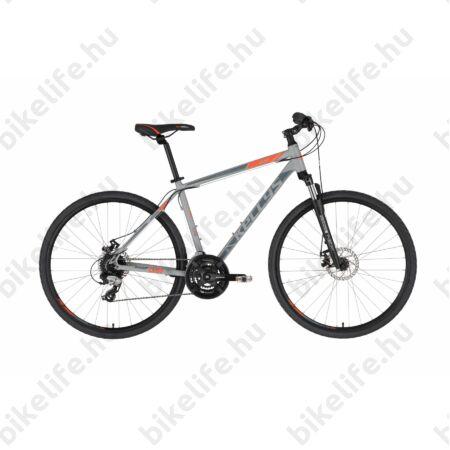 """Kellys Cliff 70 Grey cross kerékpár 24 fokozatú EF510/TX800 váltó, mechanikus tárcsafék, 19"""""""