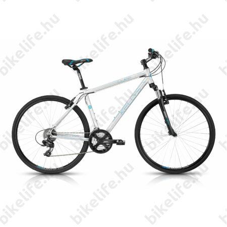 """Kellys Cliff 30 2016 férfi cross kerékpár 24sebességes TX800 váltó, Silver 19"""""""