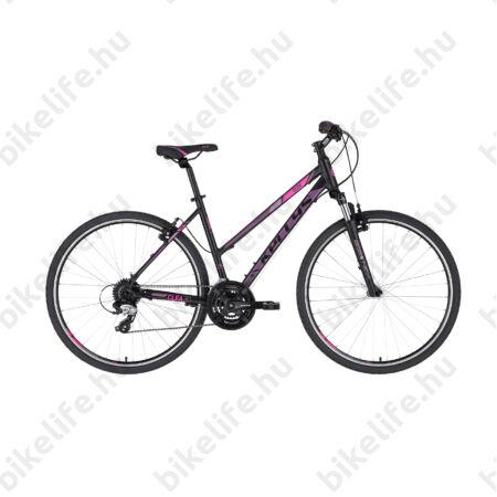 """Kellys Clea 30 Black/Pink női cross kerékpár 24 fokozatú TX800 váltó, V-fék 19"""""""