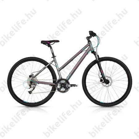 """Kellys Clea 90 2017 női cross kerékpár 27sebességes Altus váltó, hidraulikus tárcsafék, Grey, 17"""""""