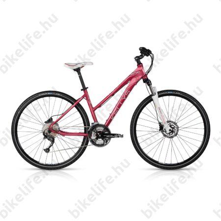 """Kellys Phutura 30 2017 női cross kerékpár 27sebességes Alivio váltó, Shimano hidr. tárcsa, raspberry 19"""""""