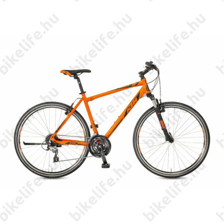 KTM Life One 2017 férfi cross kerékpár, 24fokozatú, Shimano Acera, matt narancs-fekete, 51cm