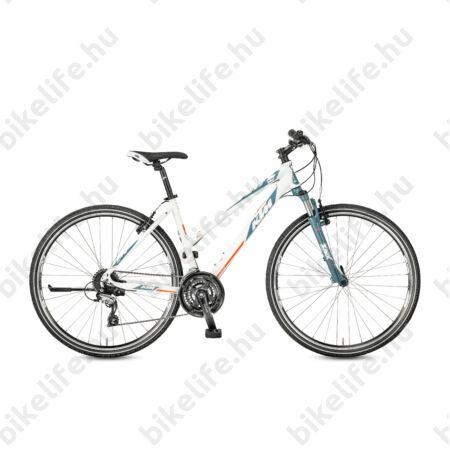 KTM Life One női cross kerékpár, 24fokozatú, Shimano Acera, fehér (bordó/piros), 51cm