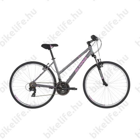 """Alpina ECO LC10 női cross kerékpár 21 sebességes Shimano RS/TX35 váltó, fehér-türkiz 18"""""""