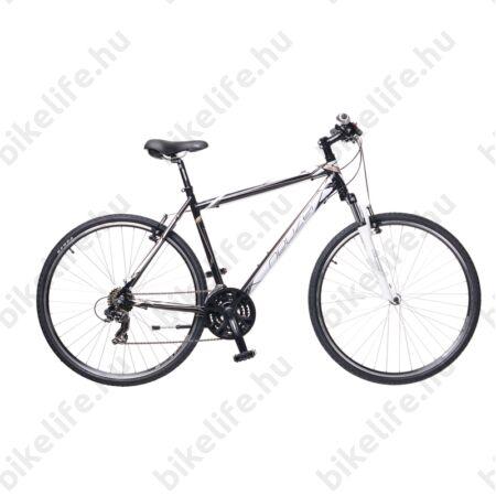 """Neuzer X1 2016 férfi cross kerékpár 21sebességes Shimano váltó, fekete/fehér-bronz 19"""""""