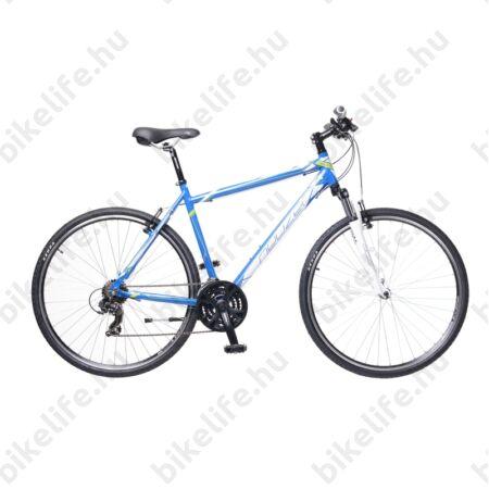 """Neuzer X1 férfi cross kerékpár 21sebességes Shimano váltó, kék/fehér-zöld 21"""""""