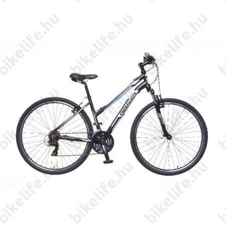 """Neuzer X100 női cross kerékpár 21sebességes Shimano váltó, fekete/fehér-kék 19"""""""
