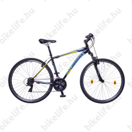 "Neuzer X-Series férfi cross kerékpár Shimano TY300, duplafalú abroncs, fekete/kék-sárga, 53cm/21"""